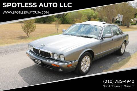2003 Jaguar XJ-Series for sale at SPOTLESS AUTO LLC in San Antonio TX
