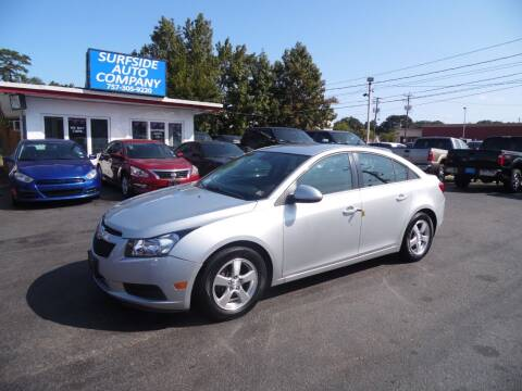 2013 Chevrolet Cruze for sale at Surfside Auto Company in Norfolk VA