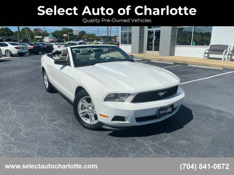 2011 Ford Mustang for sale at Select Auto of Charlotte in Matthews NC