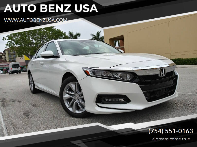 2020 Honda Accord for sale at AUTO BENZ USA in Fort Lauderdale FL
