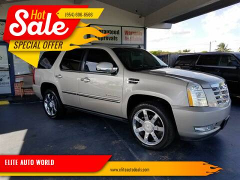 2007 Cadillac Escalade for sale at ELITE AUTO WORLD in Fort Lauderdale FL