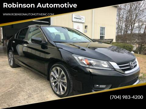 2014 Honda Accord for sale at Robinson Automotive in Albermarle NC