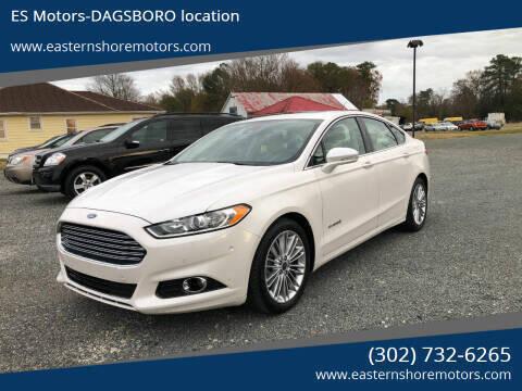 2013 Ford Fusion Hybrid for sale at ES Motors-DAGSBORO location in Dagsboro DE