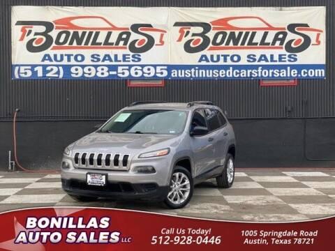 2016 Jeep Cherokee for sale at Bonillas Auto Sales in Austin TX