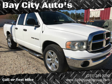 2005 Dodge Ram Pickup 1500 for sale at Bay City Auto's in Mobile AL