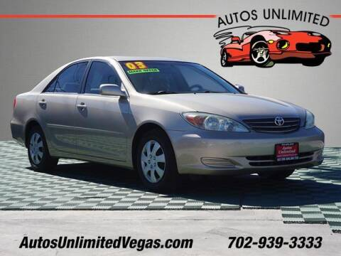 2003 Toyota Camry for sale at Autos Unlimited in Las Vegas NV