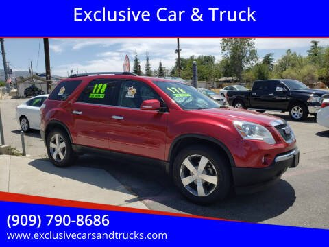 2012 GMC Acadia for sale at Exclusive Car & Truck in Yucaipa CA
