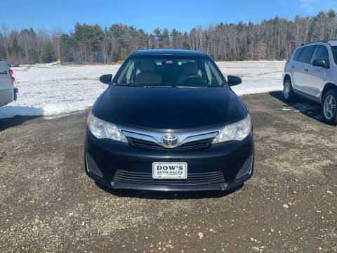 2012 Toyota Camry for sale at DOW'S AUTO SALES in Palmyra ME