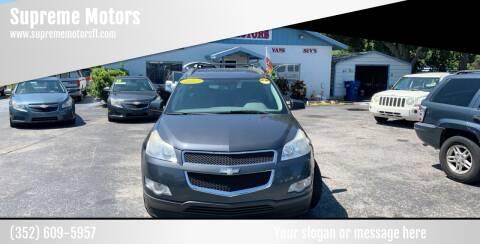 2012 Chevrolet Traverse for sale at Supreme Motors in Tavares FL