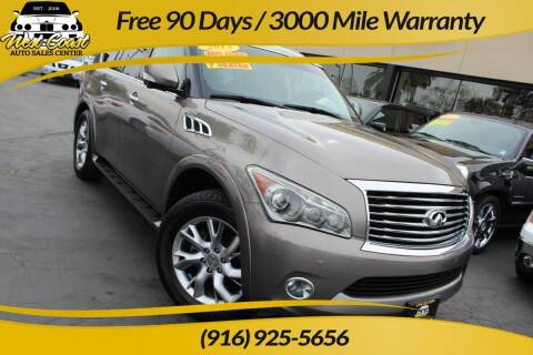 2013 Infiniti QX56 for sale at West Coast Auto Sales Center in Sacramento CA