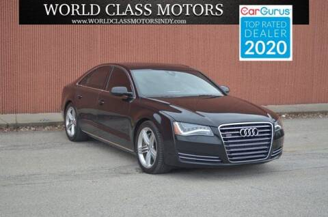 2012 Audi A8 for sale at World Class Motors LLC in Noblesville IN