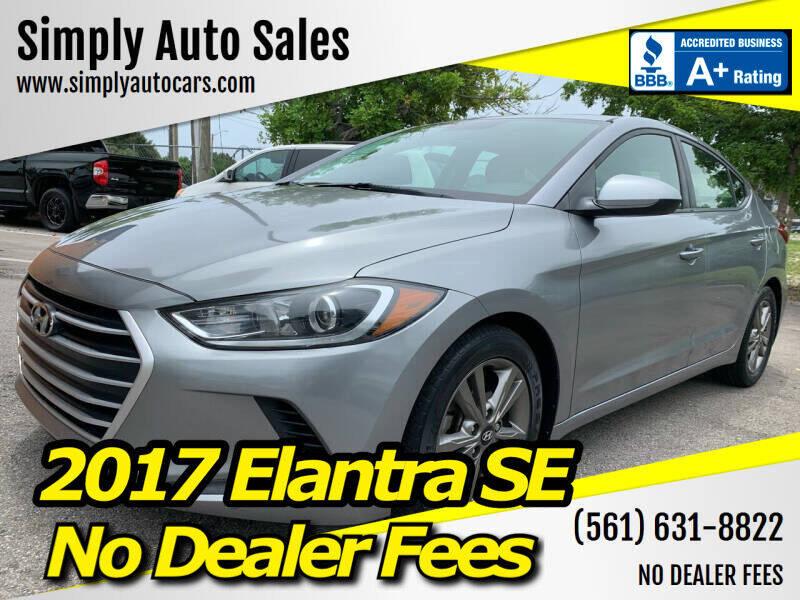2017 Hyundai Elantra for sale at Simply Auto Sales in Palm Beach Gardens FL