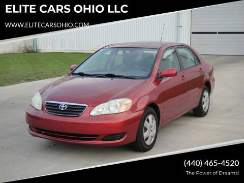 2008 Toyota Corolla for sale at ELITE CARS OHIO LLC in Solon OH