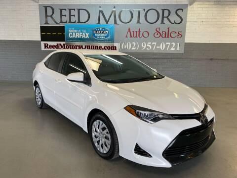 2018 Toyota Corolla for sale at REED MOTORS LLC in Phoenix AZ
