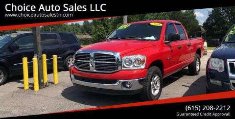 2008 Dodge Ram Pickup 1500 for sale at Choice Auto Sales LLC - Cash Inventory in White House TN