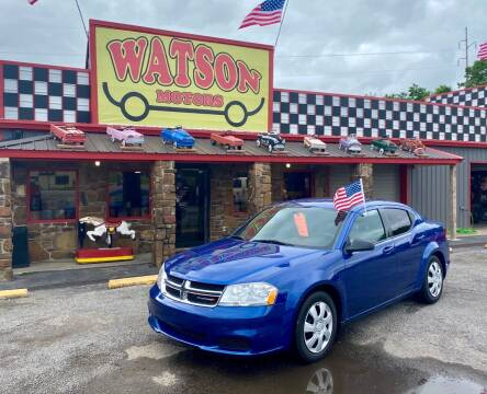 2014 Dodge Avenger for sale at Watson Motors in Poteau OK