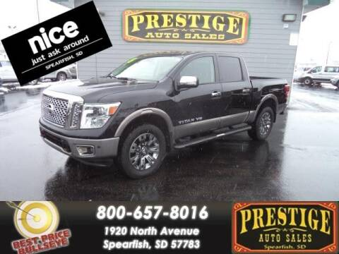 2018 Nissan Titan for sale at PRESTIGE AUTO SALES in Spearfish SD