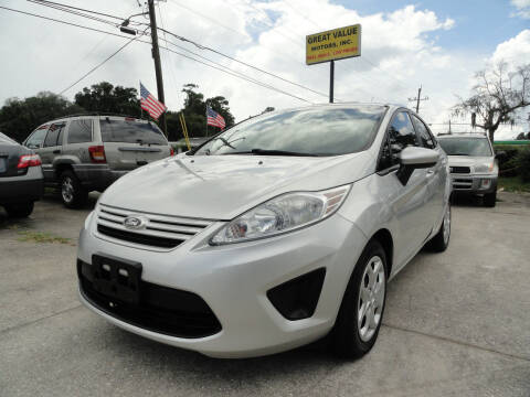 2013 Ford Fiesta for sale at GREAT VALUE MOTORS in Jacksonville FL