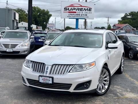 2010 Lincoln MKS for sale at Supreme Auto Sales in Chesapeake VA