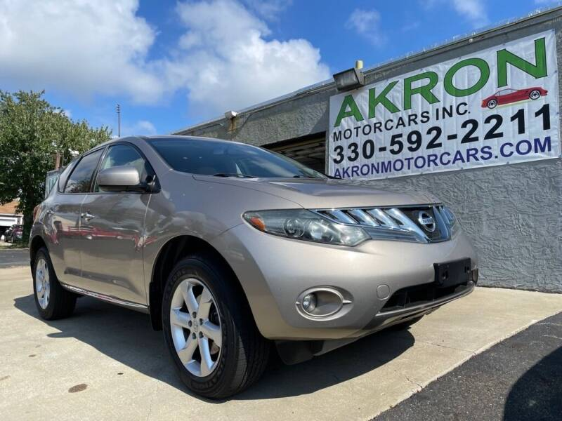 2009 Nissan Murano for sale at Akron Motorcars Inc. in Akron OH
