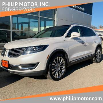 2016 Lincoln MKX for sale at Philip Motor Inc in Philip SD
