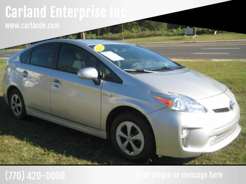 2015 Toyota Prius for sale at Carland Enterprise Inc in Marietta GA