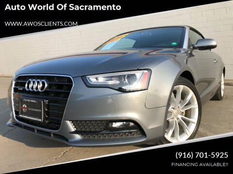 2014 Audi A5 for sale at Auto World of Sacramento Stockton Blvd in Sacramento CA