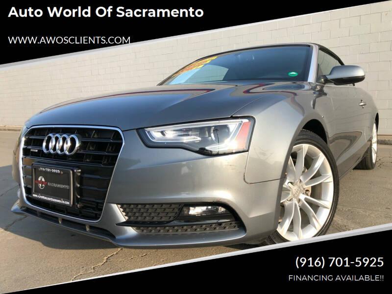 2014 Audi A5 for sale at Auto World of Sacramento Stockton Blvd in Sacramento CA