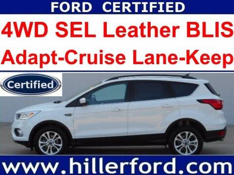 2019 Ford Escape for sale at HILLER FORD INC in Franklin WI