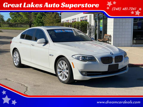 2013 BMW 5 Series for sale at Great Lakes Auto Superstore in Pontiac MI