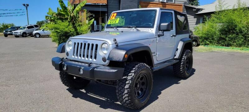 2012 Jeep Wrangler for sale at Persian Motors in Cornelius OR