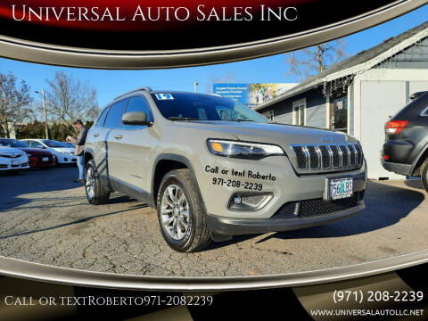 2019 Jeep Cherokee for sale at Universal Auto Sales Inc in Salem OR