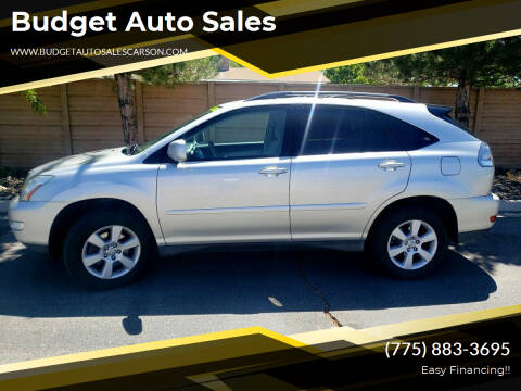 2007 Lexus RX 350 for sale at Budget Auto Sales in Carson City NV