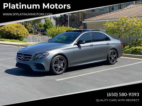 2018 Mercedes-Benz E-Class for sale at Platinum Motors in San Bruno CA