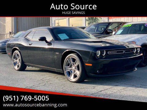 2015 Dodge Challenger for sale at Auto Source in Banning CA
