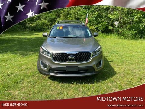 2016 Kia Sorento for sale at Midtown Motors in Greenbrier TN