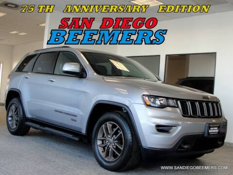 2017 Jeep Grand Cherokee for sale at SAN DIEGO BEEMERS in San Diego CA