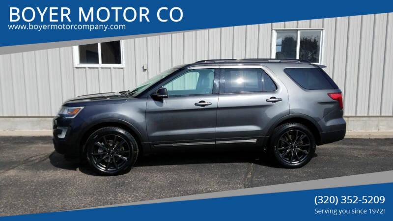 2017 Ford Explorer for sale at BOYER MOTOR CO in Sauk Centre MN