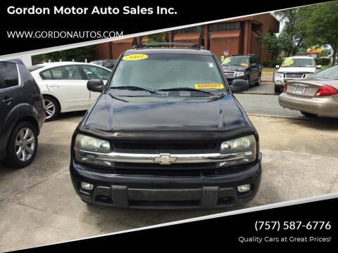 2003 Chevrolet TrailBlazer for sale at Gordon Motor Auto Sales Inc. in Norfolk VA