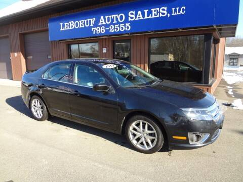 2012 Ford Fusion for sale at LeBoeuf Auto Sales in Waterford PA
