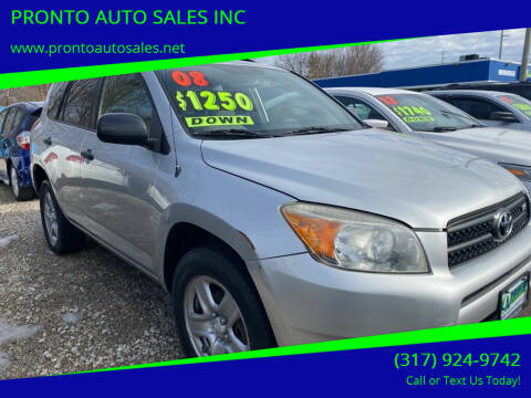 2008 Toyota RAV4 for sale at PRONTO AUTO SALES INC in Indianapolis IN