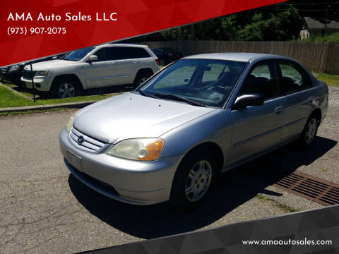 2002 Honda Civic for sale at AMA Auto Sales LLC in Ringwood NJ
