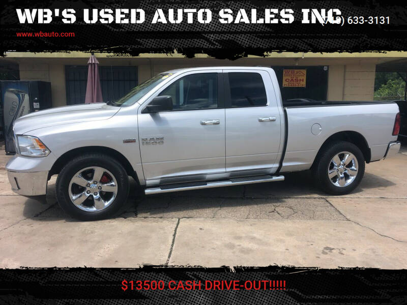 2014 RAM Ram Pickup 1500 for sale at WB'S USED AUTO SALES INC in Houston TX