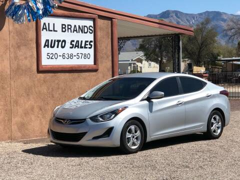 2015 Hyundai Elantra for sale at All Brands Auto Sales in Tucson AZ