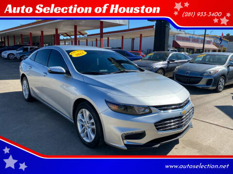 2018 Chevrolet Malibu for sale at Auto Selection of Houston in Houston TX