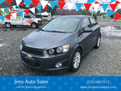 2013 Chevrolet Sonic for sale at Jims Auto Sales in Lakehurst NJ