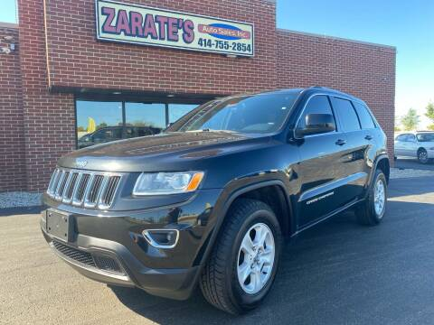 2015 Jeep Grand Cherokee for sale at Zarate's Auto Sales in Caledonia WI