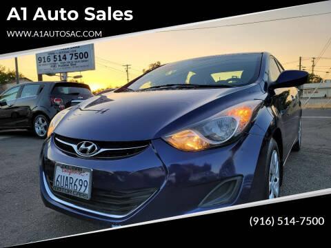 2013 Hyundai Elantra for sale at A1 Auto Sales in Sacramento CA