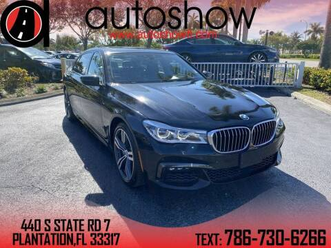 2018 BMW 7 Series for sale at AUTOSHOW SALES & SERVICE in Plantation FL