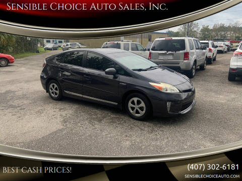 2013 Toyota Prius for sale at Sensible Choice Auto Sales, Inc. in Longwood FL
